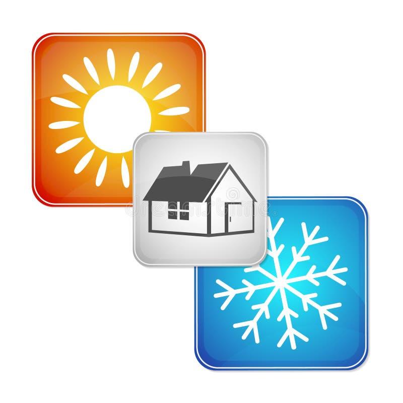 Vecteur de dispositif de climatisation illustration libre de droits