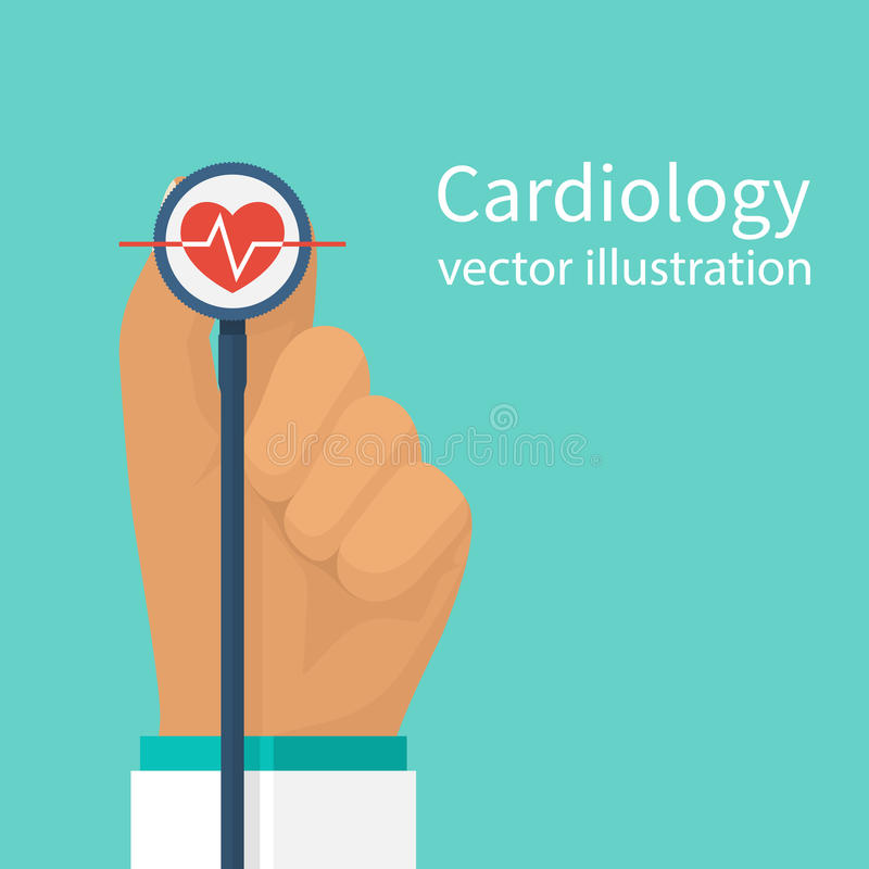 Vecteur de docteur de cardiologue illustration stock
