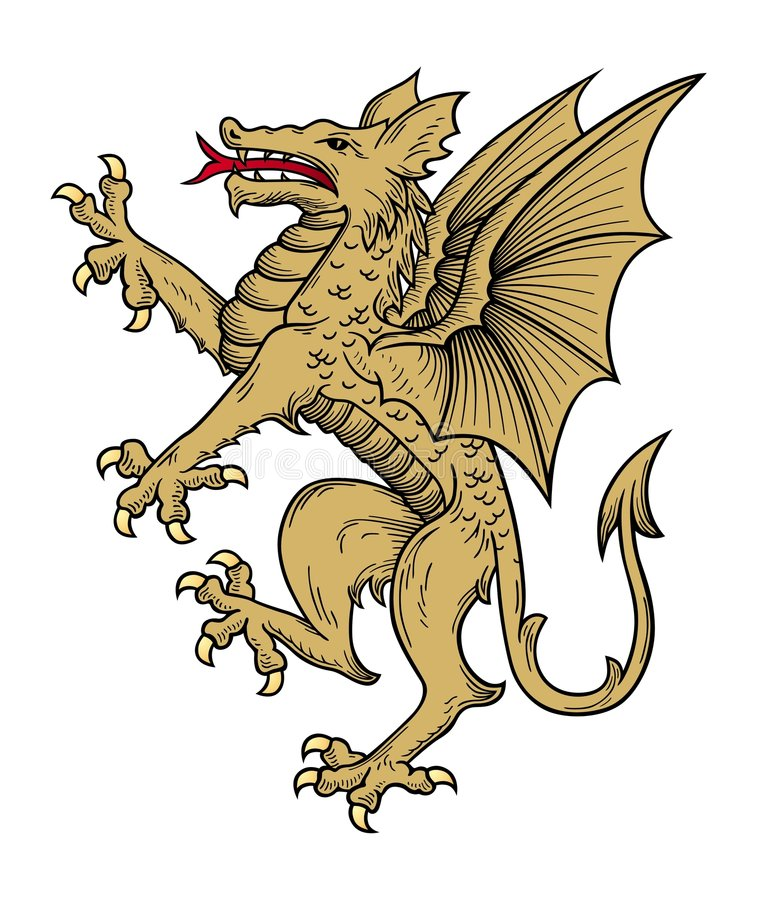 Vecteur de dragon d'or illustration de vecteur