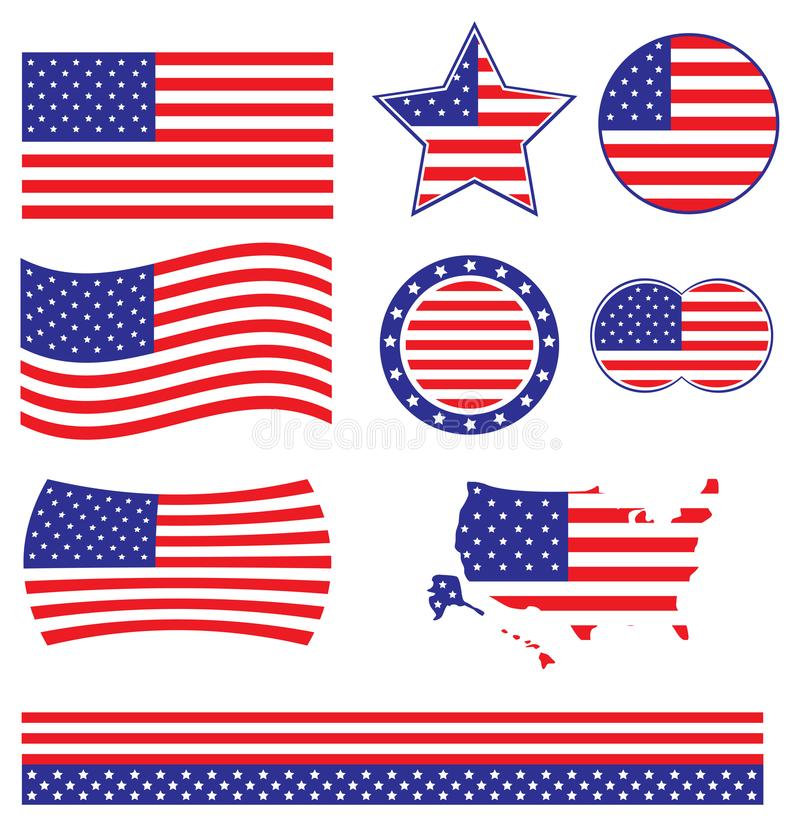 Vecteur de drapeau américain photo stock
