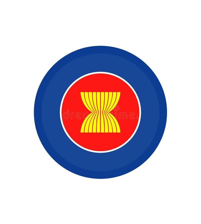 Vecteur de drapeau d'ASEAN Vecteur d'isolement par drapeau original de la communauté économique d'ASEAN et simple dans des couleu illustration stock