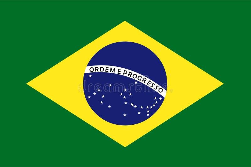 Vecteur de drapeau du Brésil Illustration d'indicateur du Brésil illustration libre de droits