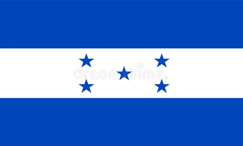 Vecteur de drapeau du Honduras Illustration de drapeau du Honduras illustration de vecteur