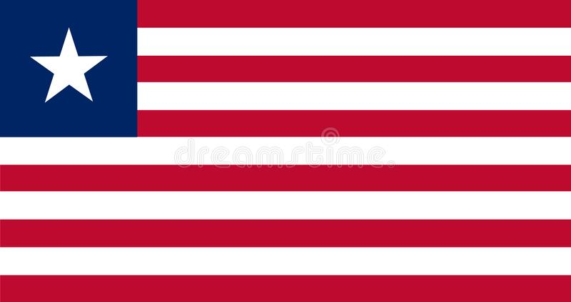 Vecteur de drapeau du Libéria Illustration de drapeau du Libéria illustration libre de droits