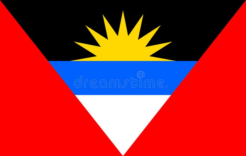 Vecteur de drapeau de l'Antigua-et-Barbuda illustration stock