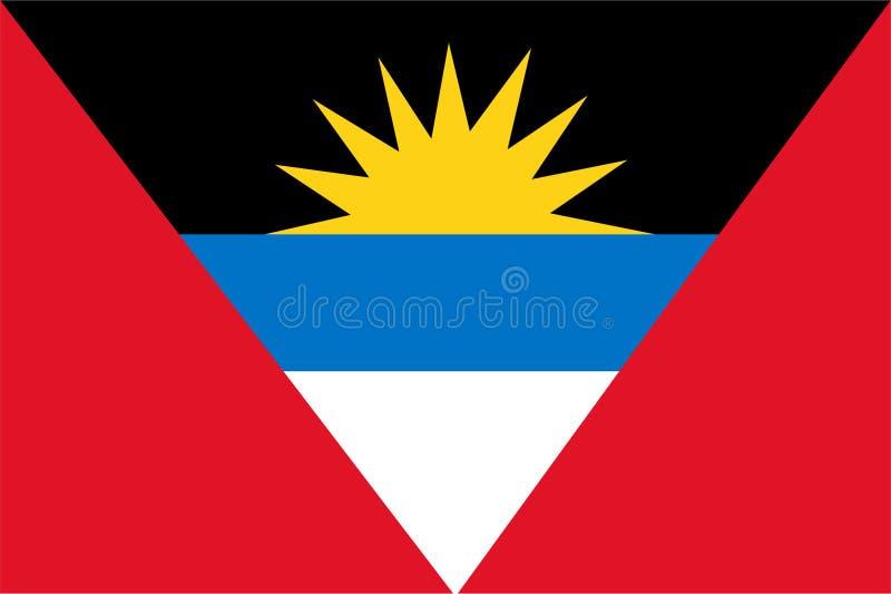 Vecteur de drapeau de l'Antigua et du Barbuda Illustration de l'Antigua et du Barbuda illustration de vecteur