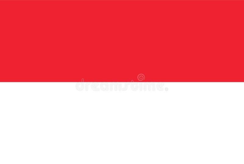 Vecteur de drapeau de l'Indonésie Illustration de drapeau de l'Indonésie illustration libre de droits