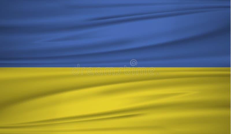 Vecteur de drapeau de l'Ukraine Dirigez le drapeau du blowig de l'Ukraine dans le vent illustration stock