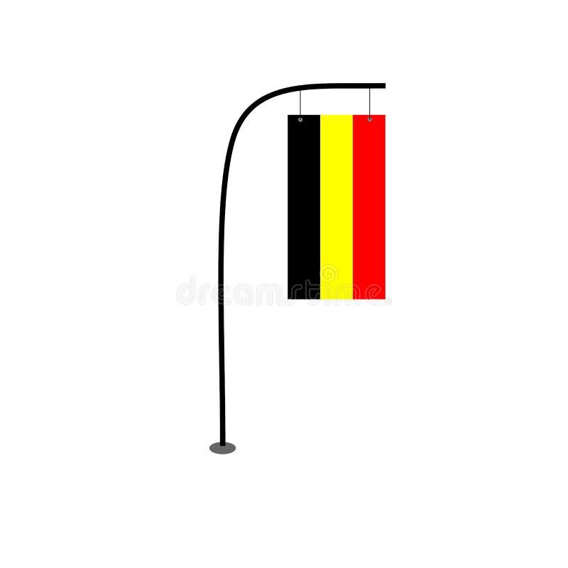 Vecteur de drapeau de la Belgique illustration libre de droits