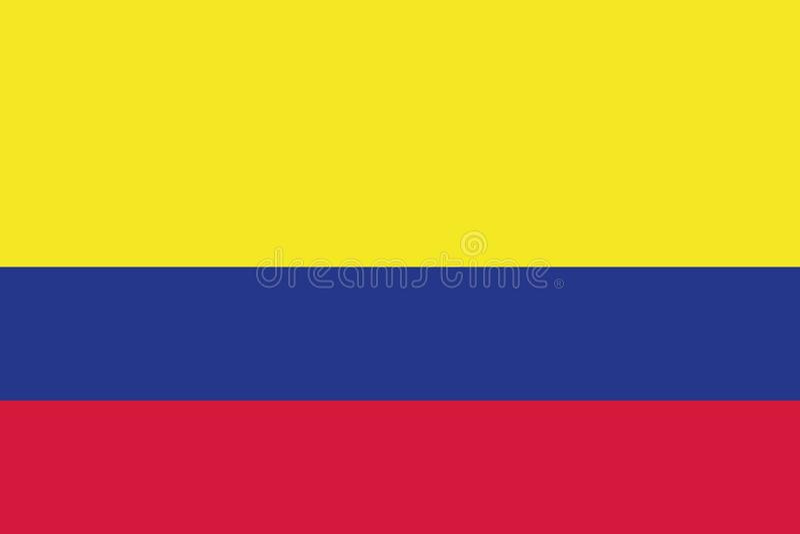 Vecteur de drapeau de la Colombie illustration stock