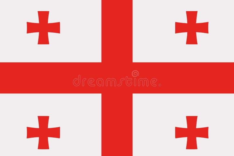 Vecteur de drapeau de la Géorgie illustration de vecteur