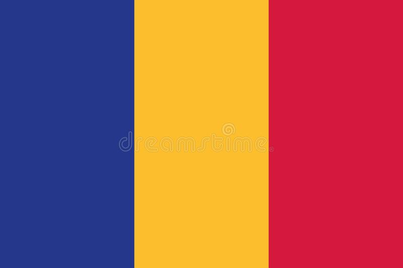 Vecteur de drapeau de la Roumanie illustration stock