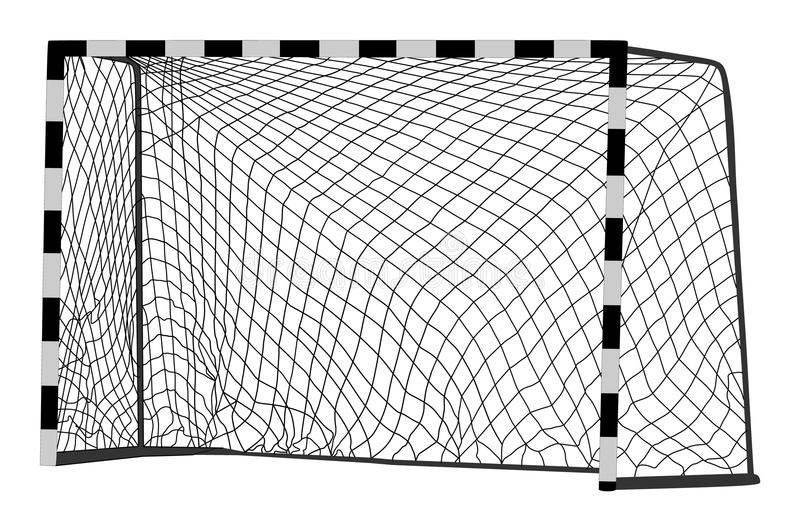 Vecteur de but du football Construction de vecteur de handball avec le filet But de Footsal Pièce de champ de sport illustration de vecteur