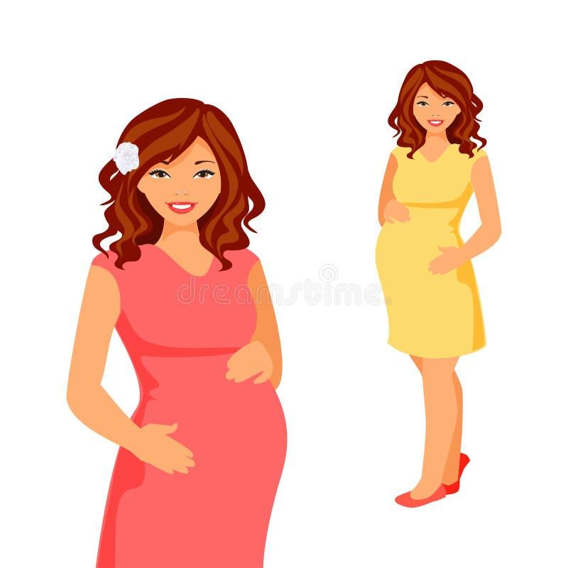 Vecteur de femme enceinte illustration de vecteur