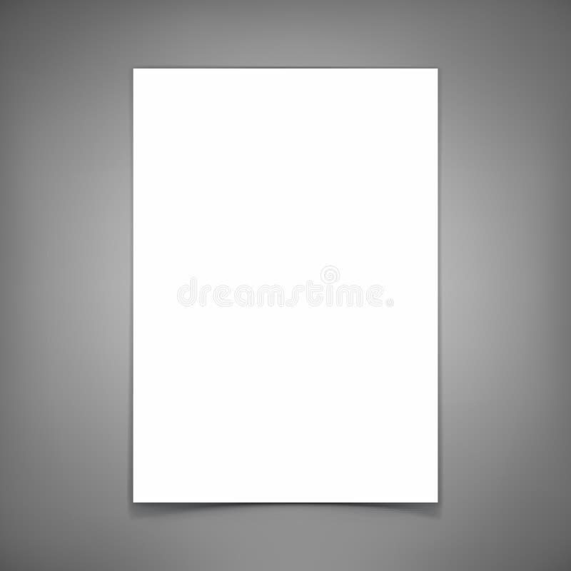 vecteur de feuille de papier blanc Descripteur pour votre conception illustration stock