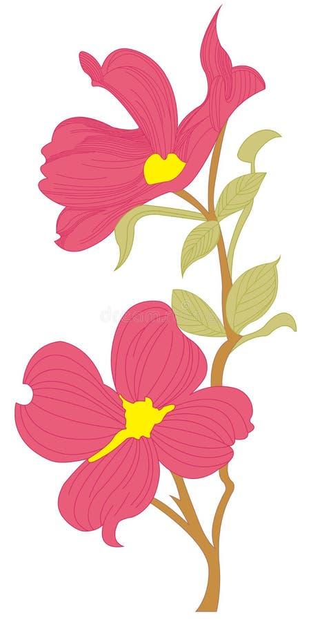 Vecteur de fleur image libre de droits