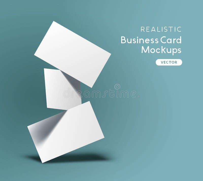 Vecteur de flottement de maquette de cartes de visite professionnelle de visite illustration de vecteur