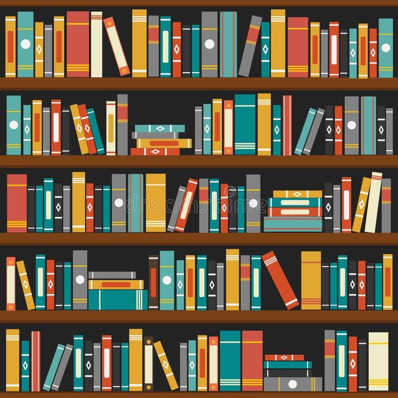 vecteur de fond d 39 tag res livres de biblioth que illustration de vecteur illustration du. Black Bedroom Furniture Sets. Home Design Ideas
