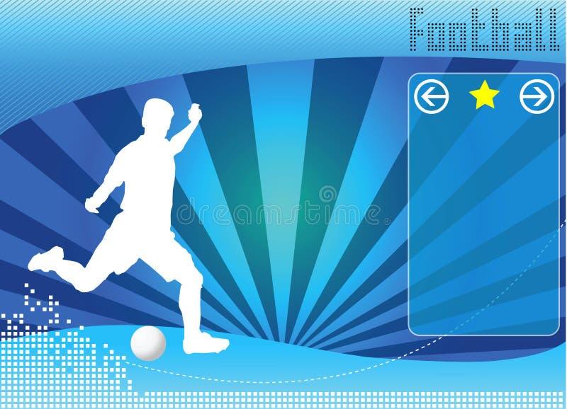 Vecteur de fond de concept du football illustration stock