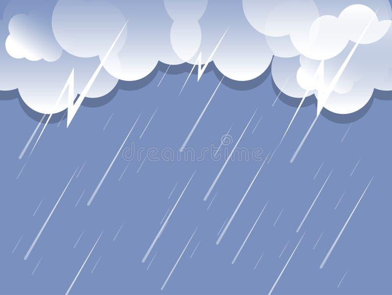 Vecteur de fond de nuage de pluie illustration de vecteur