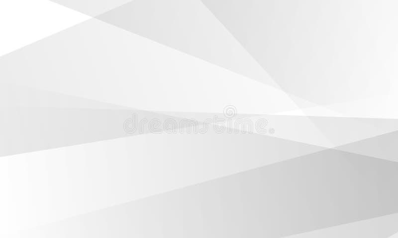 Vecteur de fond de technologie, blanc et gris abstrait de conception moderne de fond illustration libre de droits