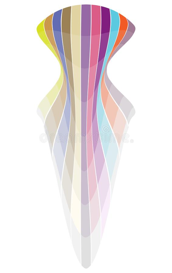 Vecteur de forme de courbe de ruban d'arc-en-ciel illustration libre de droits