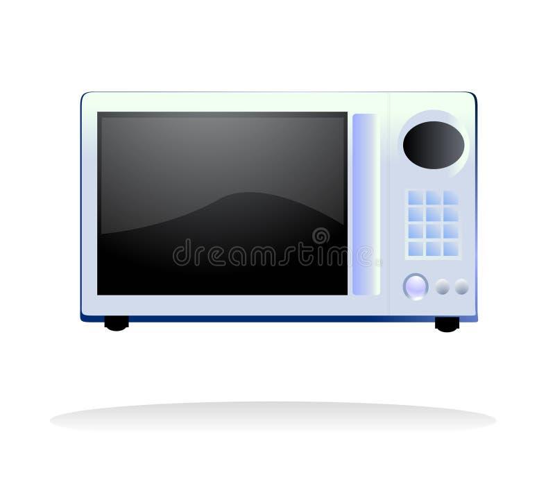 Vecteur de four à micro-ondes illustration libre de droits