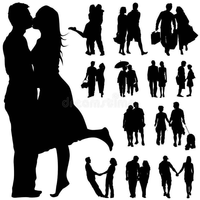 Vecteur de gens de couples
