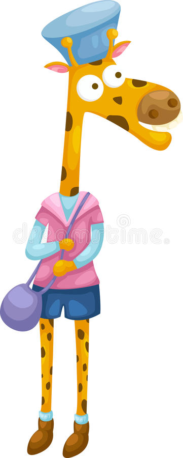 Vecteur de giraffe illustration stock
