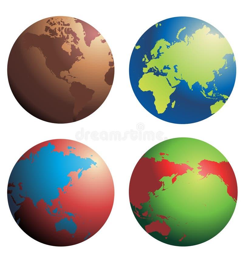Vecteur de globes photographie stock