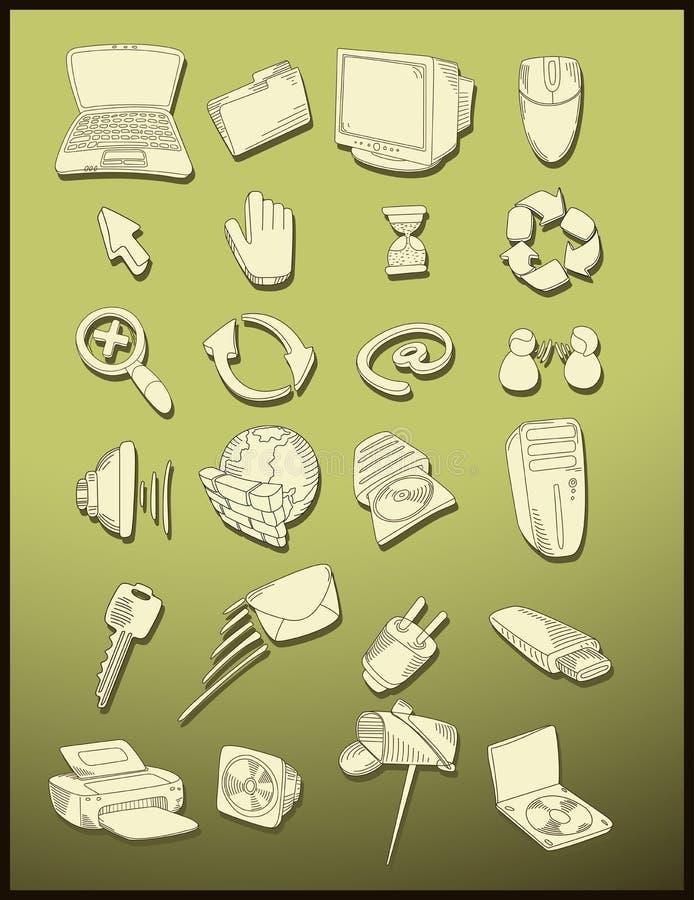 Vecteur de graphismes d'ordinateur illustration libre de droits