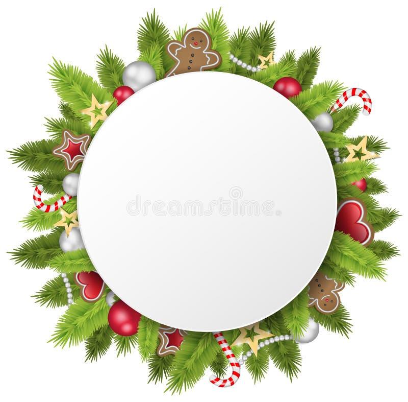 Vecteur de guirlande de cercle de Noël illustration de vecteur
