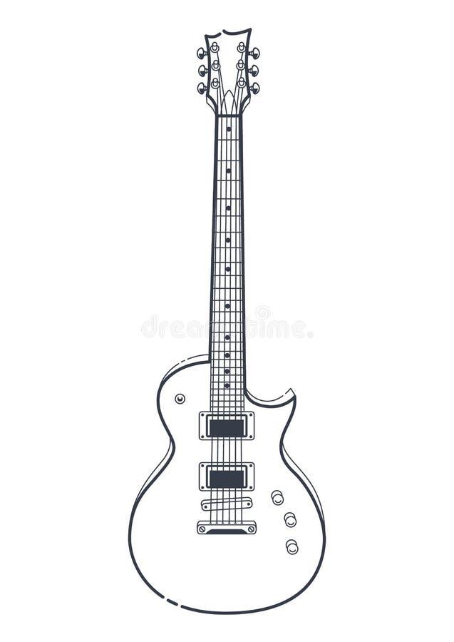 vecteur de guitare électrique illustration stock