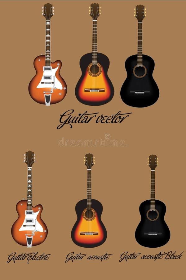 Vecteur de guitare photographie stock