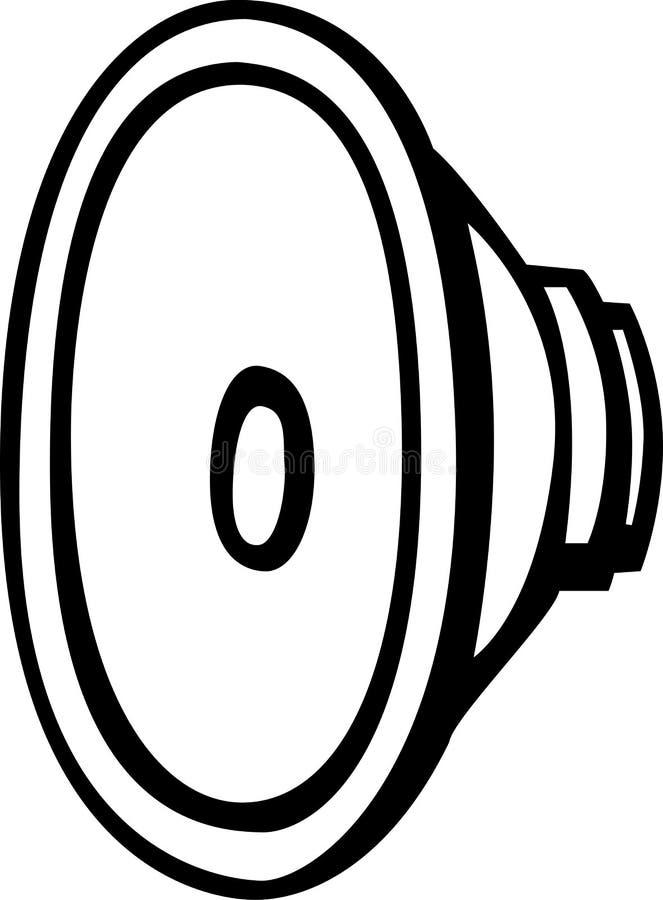 vecteur de haut-parleur d'illustration de gestionnaire illustration stock