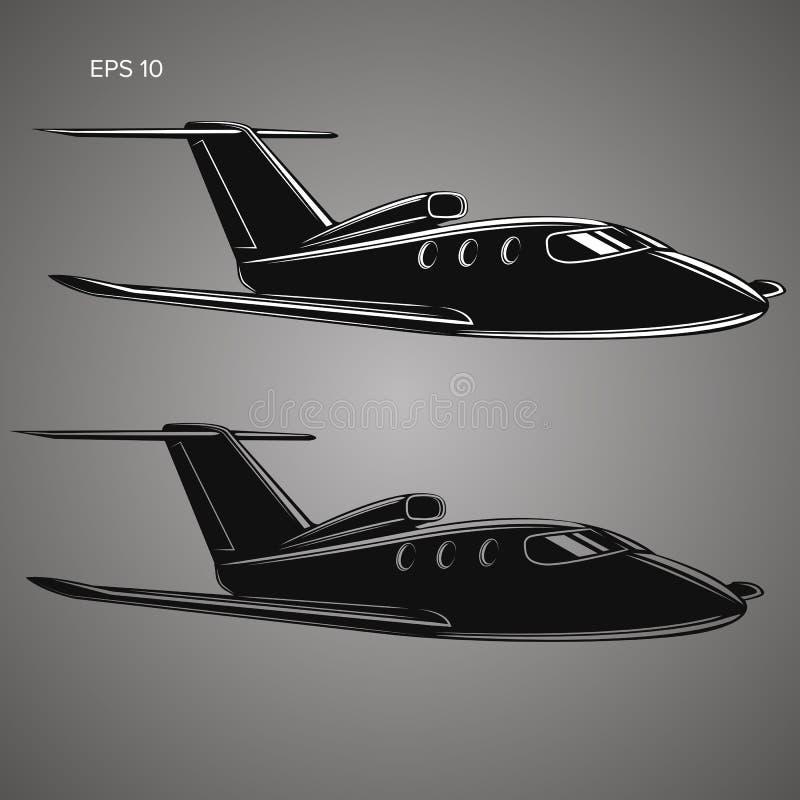 Vecteur de jet privé Illustration d'avion d'affaires illustration libre de droits