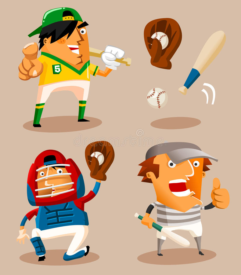 Vecteur de joueur de baseball illustration stock