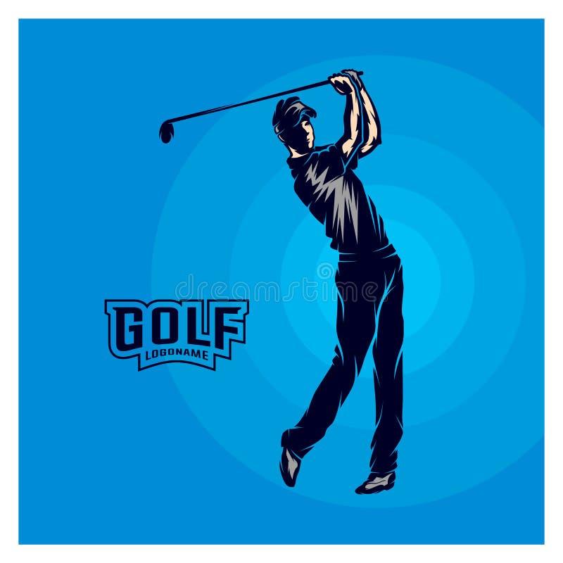 Vecteur de joueur de golf Silhouette d'un joueur de golf Illustration de vecteur illustration stock
