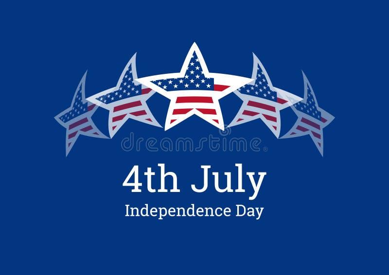 Vecteur de Jour de la Déclaration d'Indépendance illustration de vecteur