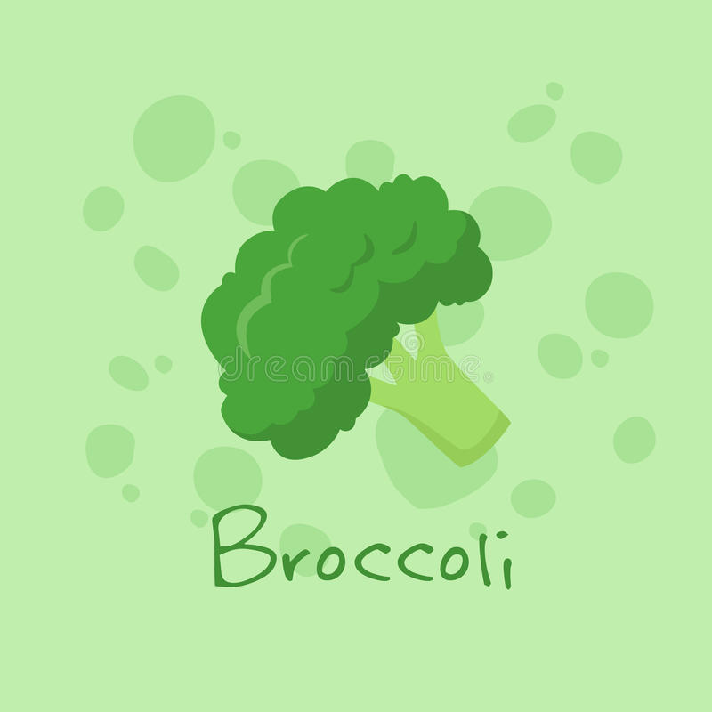 Vecteur de légume de brocoli illustration de vecteur
