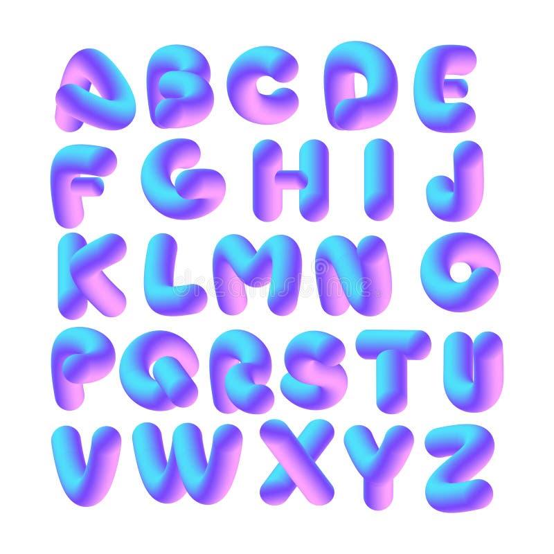 vecteur de l'alphabet 3D illustration de vecteur