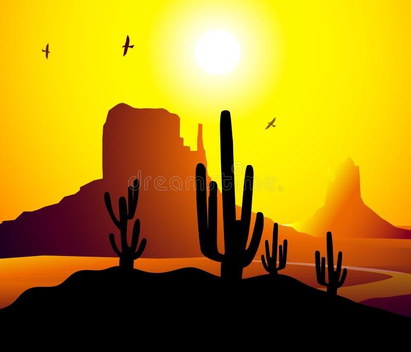 Vecteur de l'Arizona de vallée de monument illustration de vecteur
