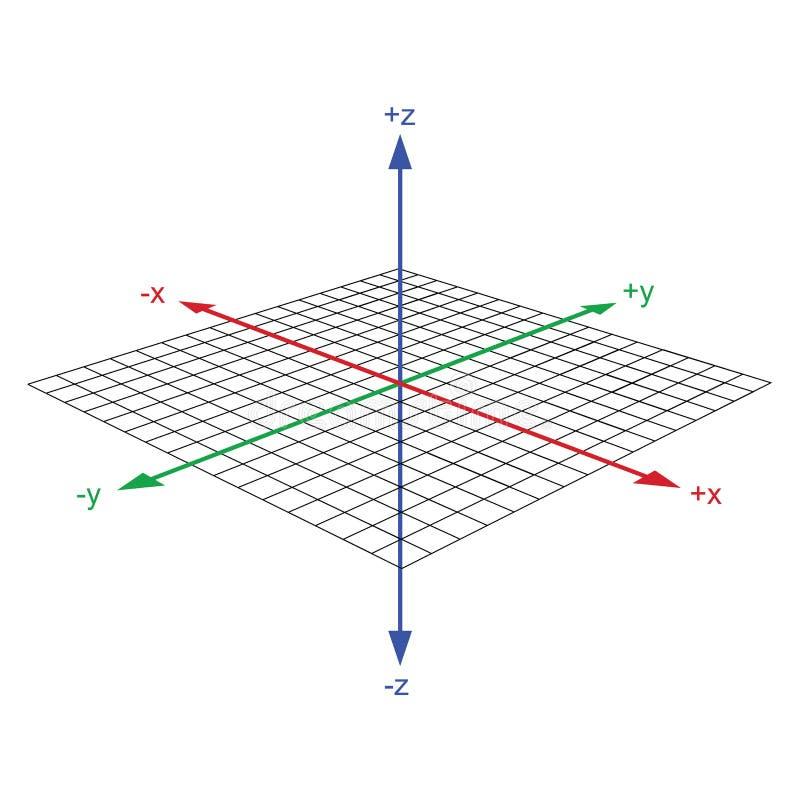 vecteur de l'axe 3d du même rang illustration stock