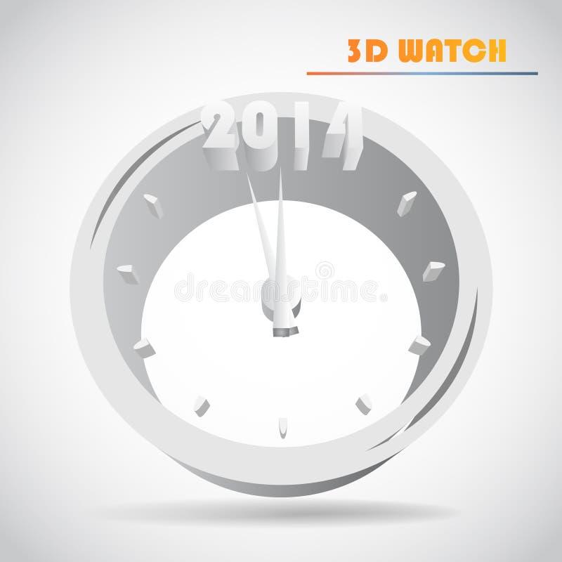 Vecteur de l'horloge de nouvelle année illustration libre de droits