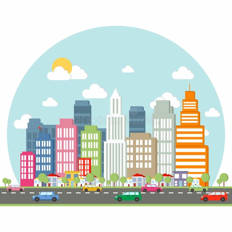 Vecteur de la belle ville - e-clips illustration libre de droits