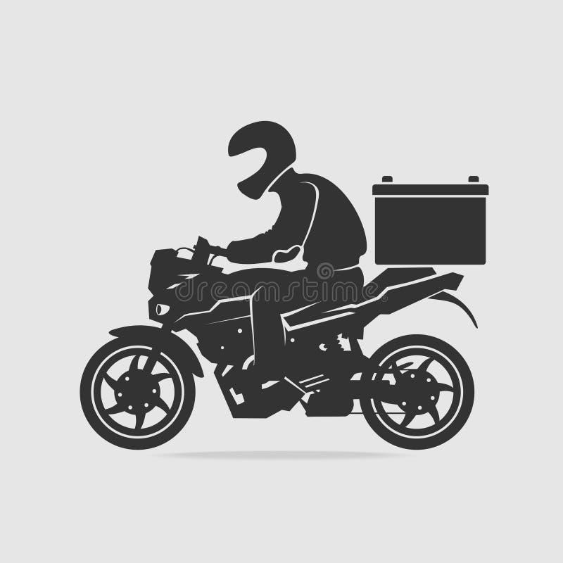 Vecteur de la livraison de nourriture de vélo illustration stock