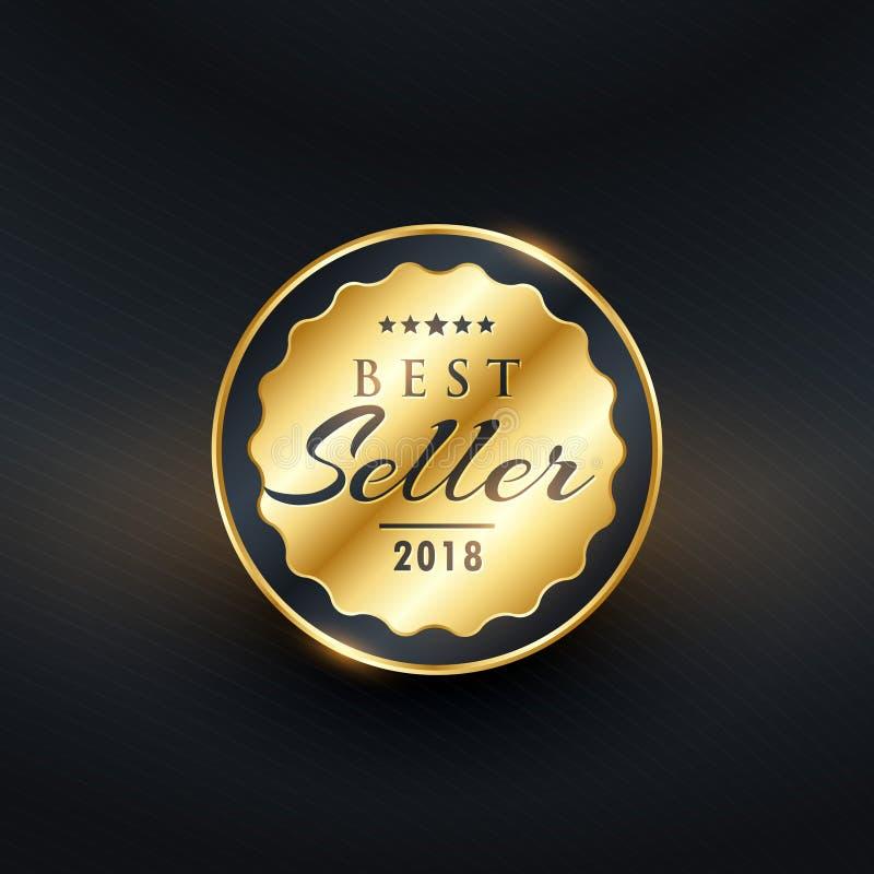 Vecteur de la meilleure qualité d'insigne de label du best-seller illustration libre de droits