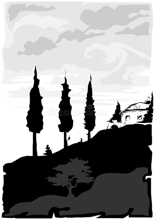 vecteur de la Toscane d'horizontal illustration de vecteur