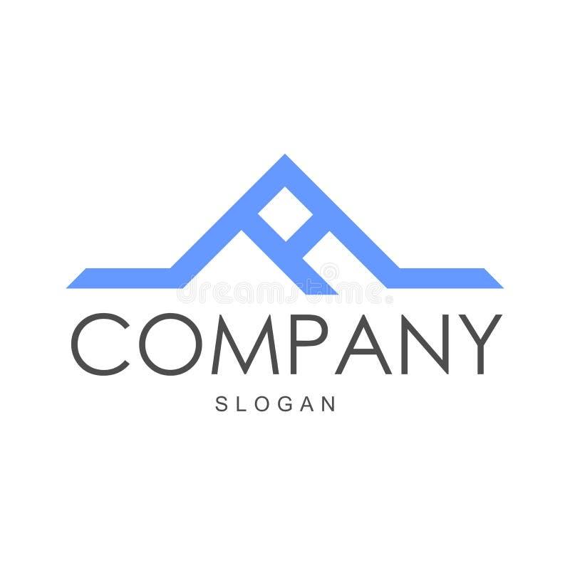 Vecteur de lettre un logo, logo de société illustration stock