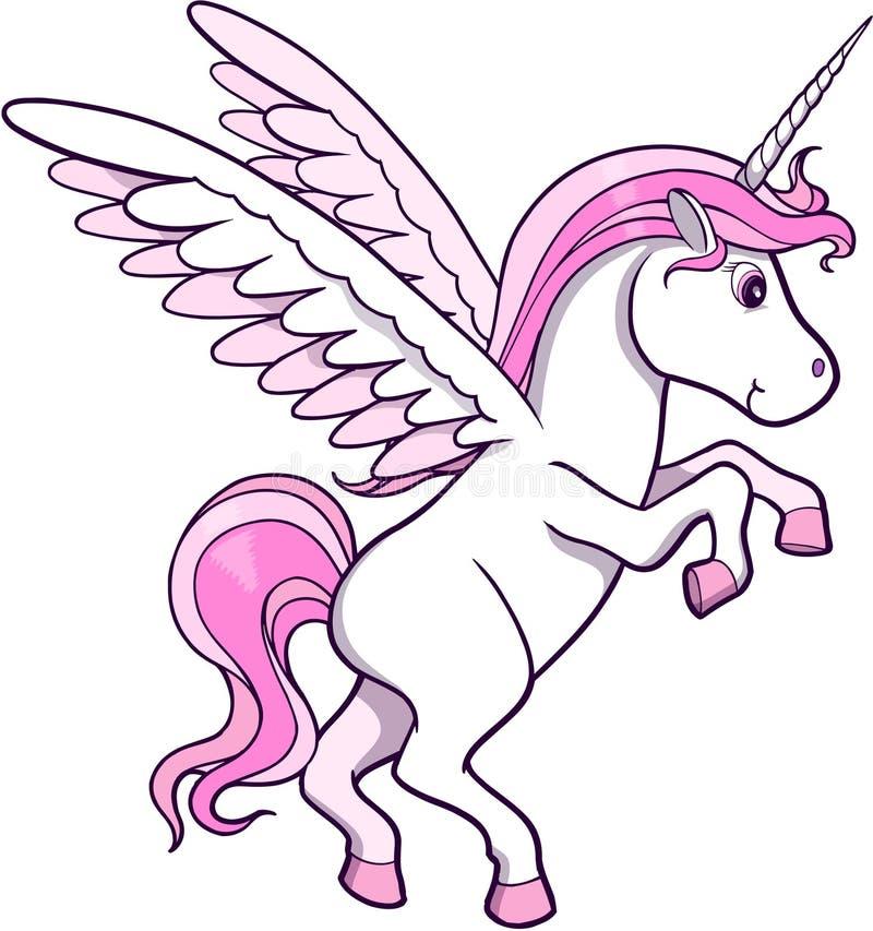 vecteur de licorne de Pegasus illustration stock